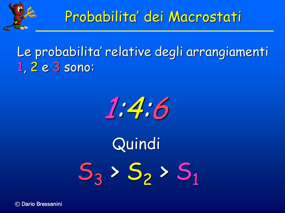 Probabilita' dei Macrostati