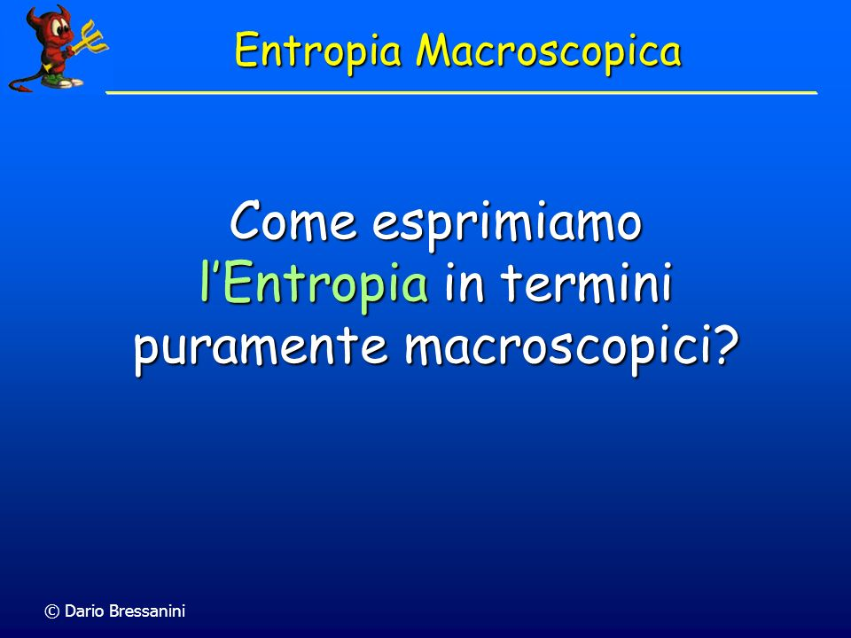Entropia Macroscopica