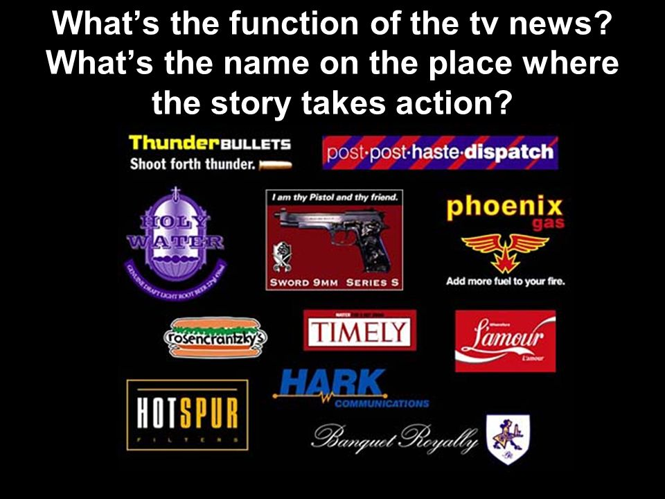 What's the function of the tv news