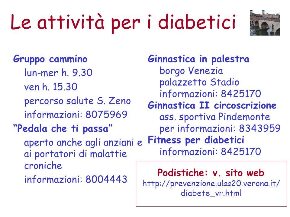 Le attività per i diabetici