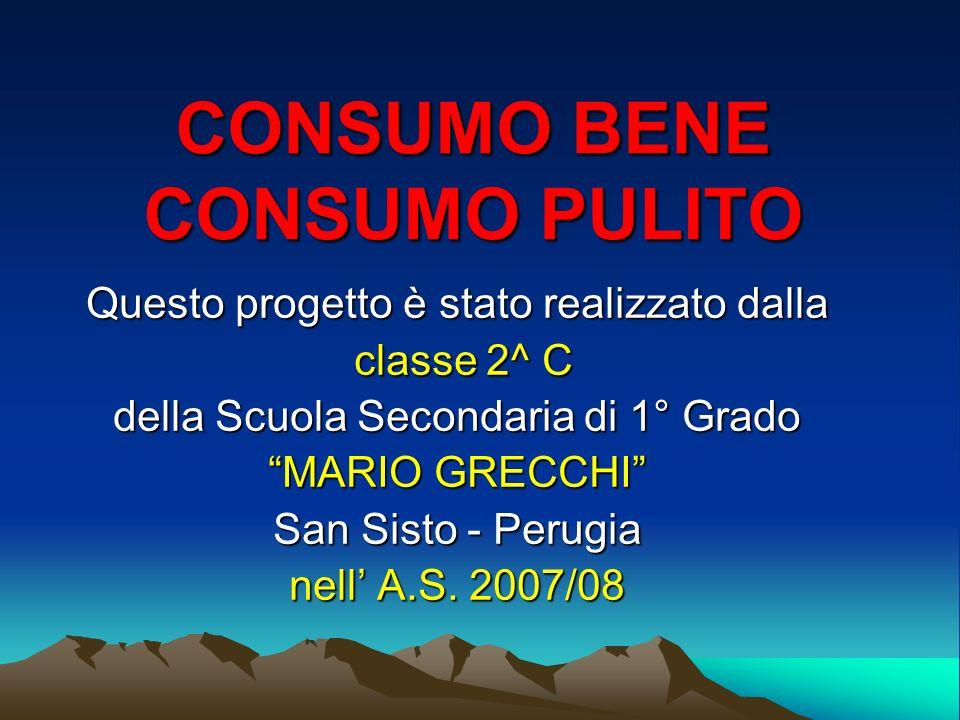 CONSUMO BENE CONSUMO PULITO