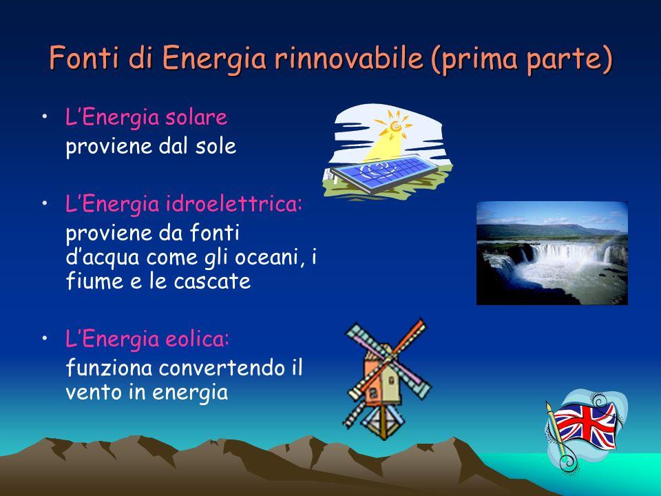 Fonti di Energia rinnovabile (prima parte)