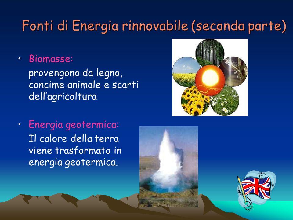 Fonti di Energia rinnovabile (seconda parte)