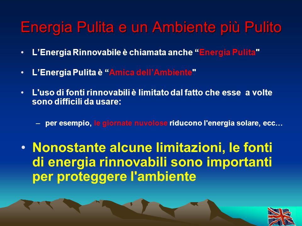 Energia Pulita e un Ambiente più Pulito
