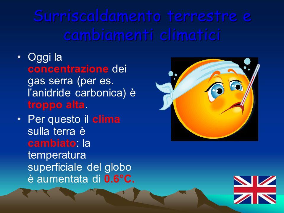 Surriscaldamento terrestre e cambiamenti climatici