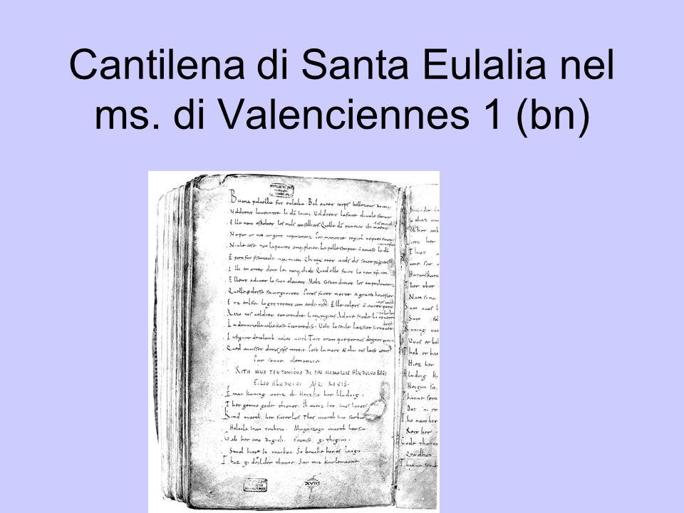 Cantilena di Santa Eulalia nel ms. di Valenciennes 1 (bn)