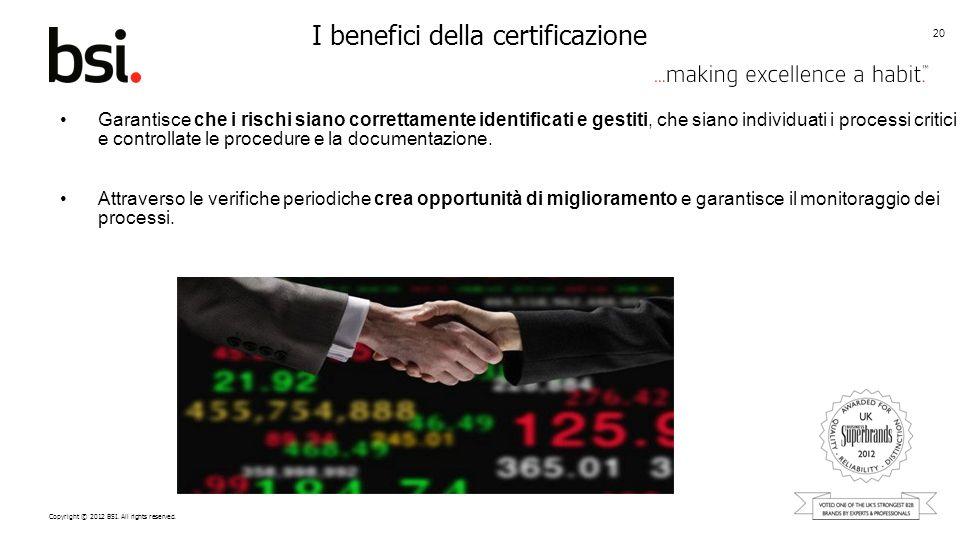 I benefici della certificazione