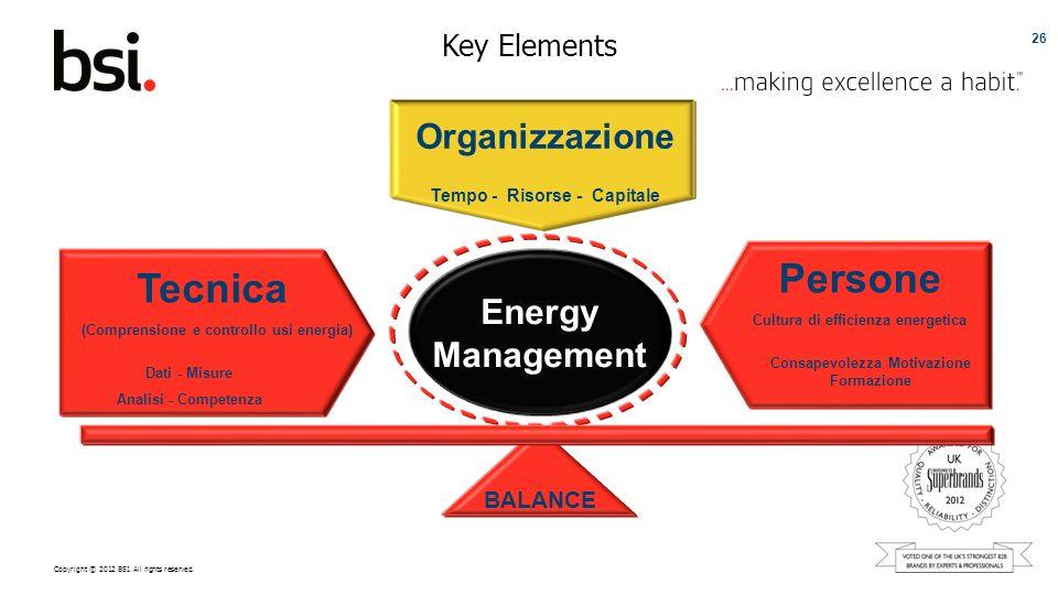 Persone Tecnica Organizzazione Energy Management Key Elements BALANCE