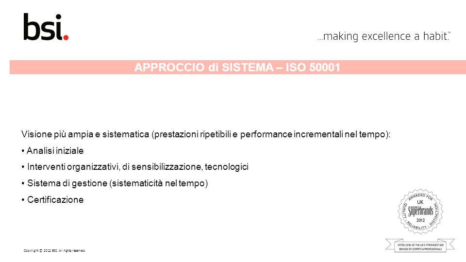 APPROCCIO di SISTEMA – ISO 50001