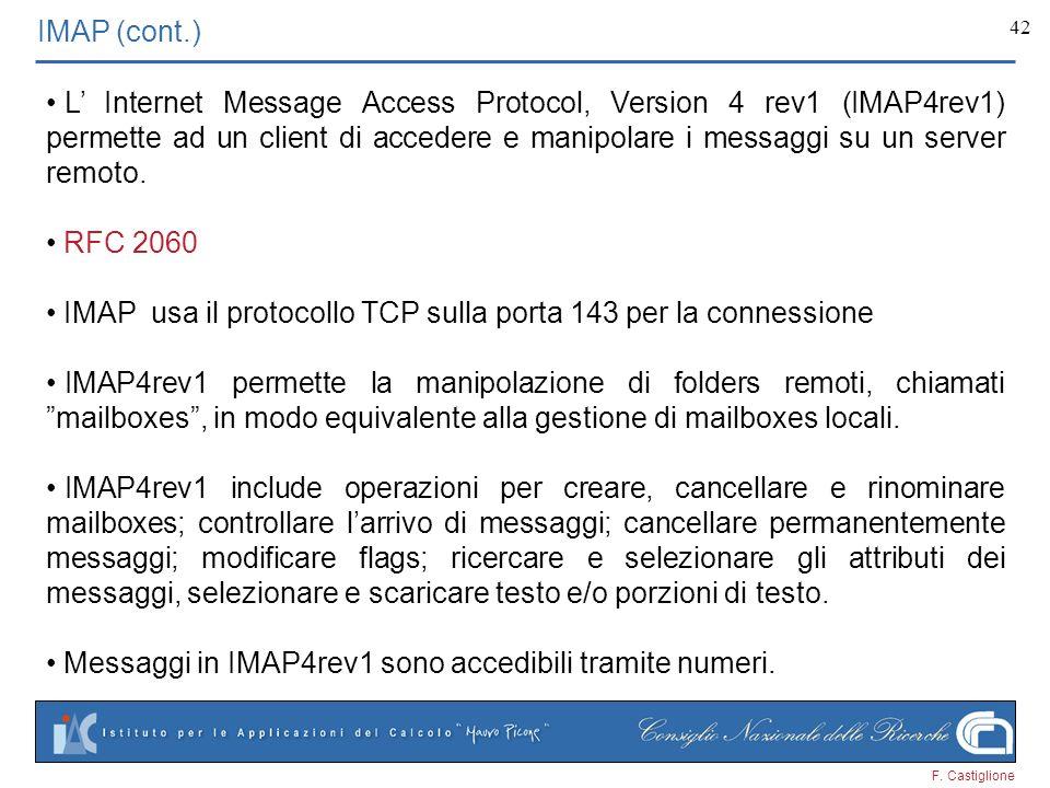 IMAP (cont.)