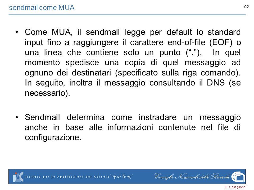 sendmail come MUA