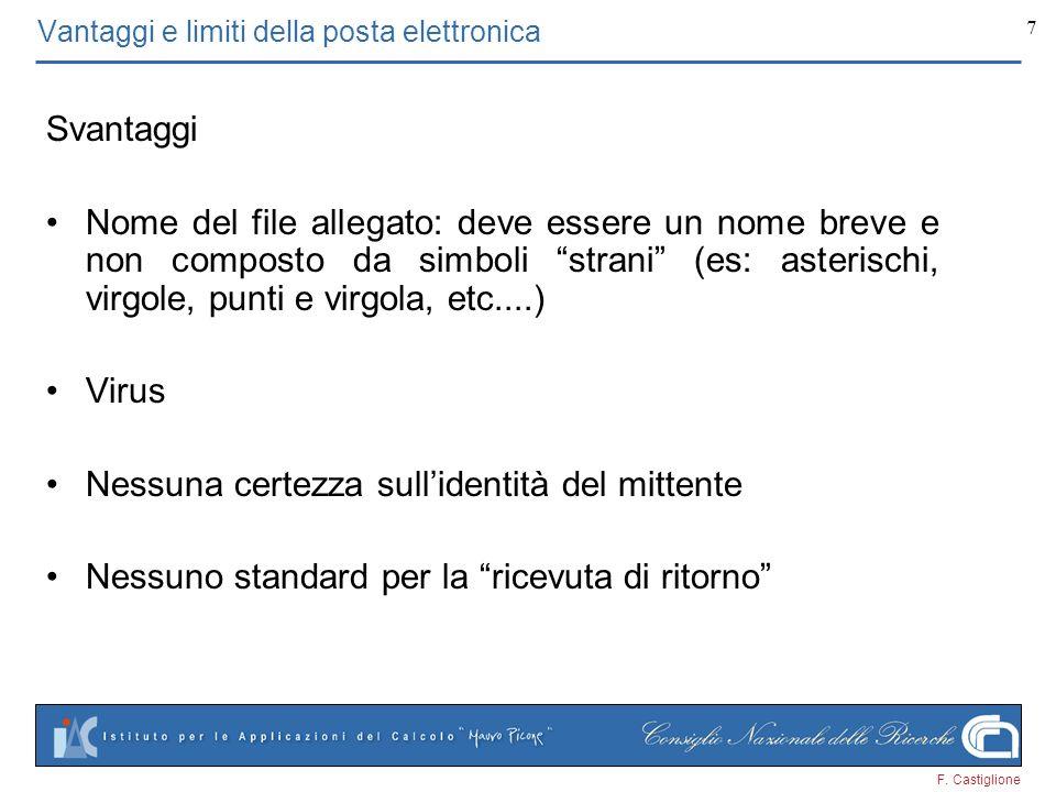 Vantaggi e limiti della posta elettronica