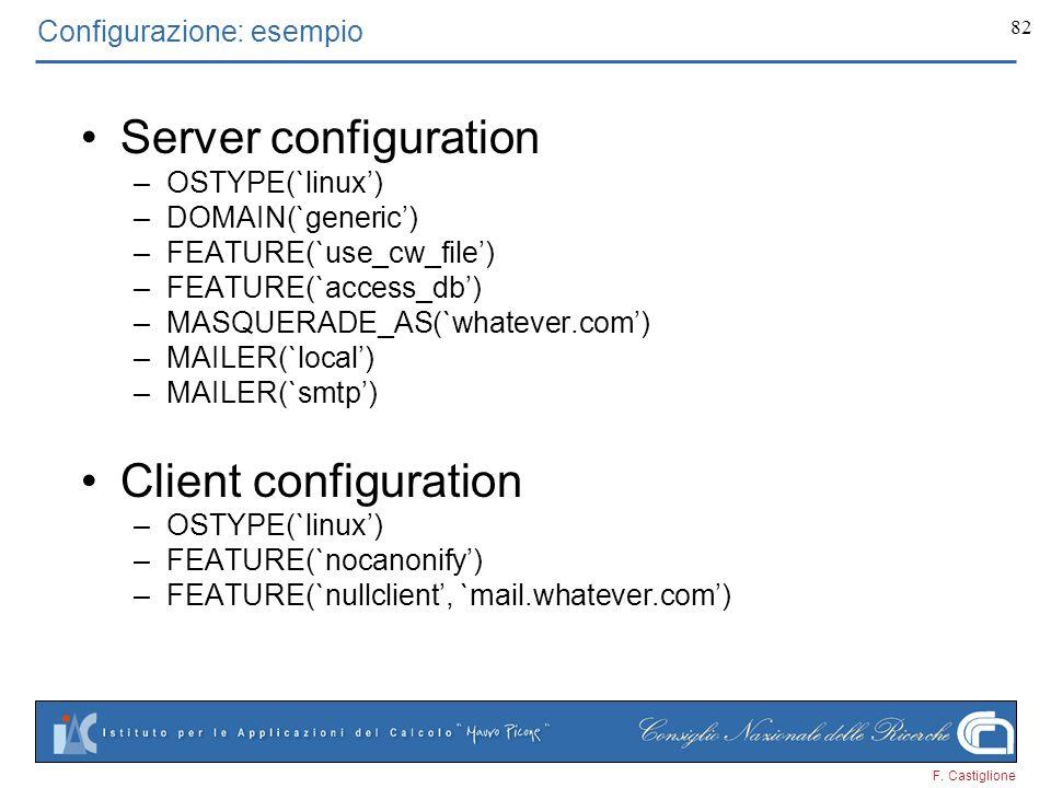 Configurazione: esempio
