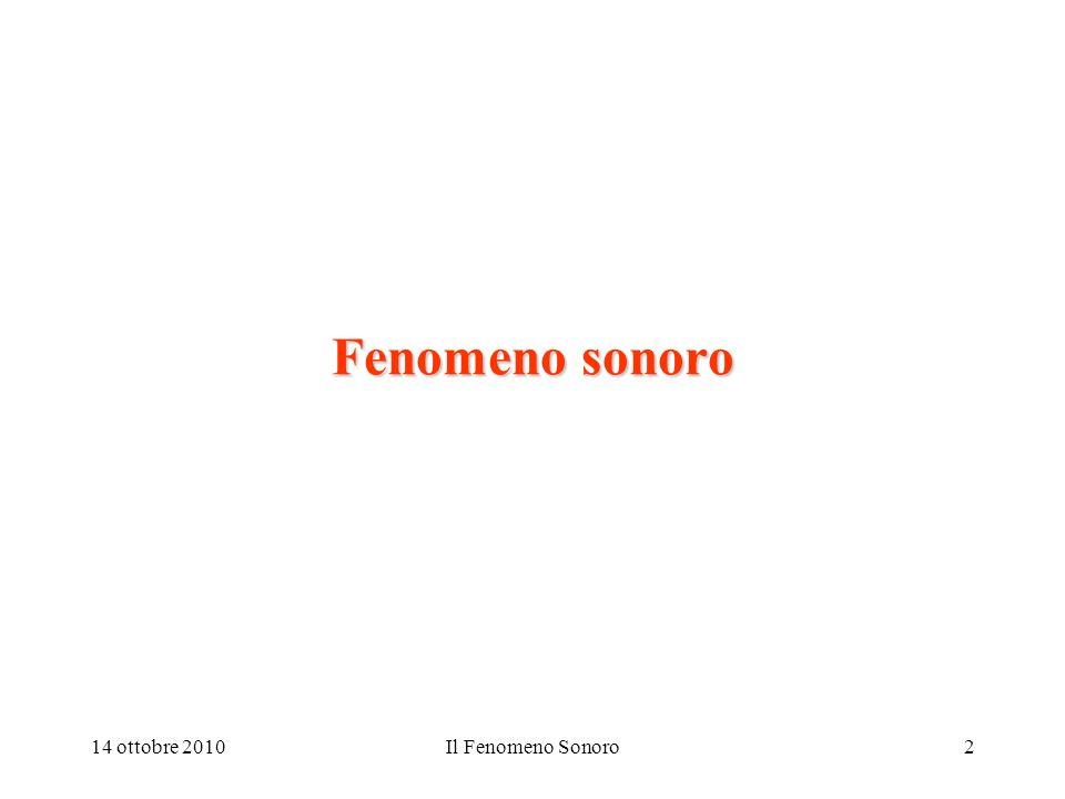 Fenomeno sonoro 14 ottobre 2010 Il Fenomeno Sonoro 09/13/2003