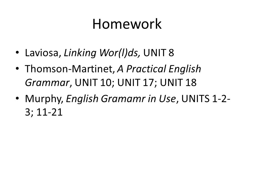 Homework Laviosa, Linking Wor(l)ds, UNIT 8