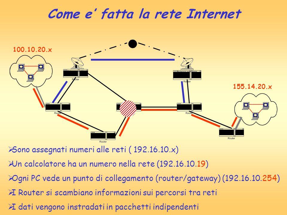 Come e' fatta la rete Internet