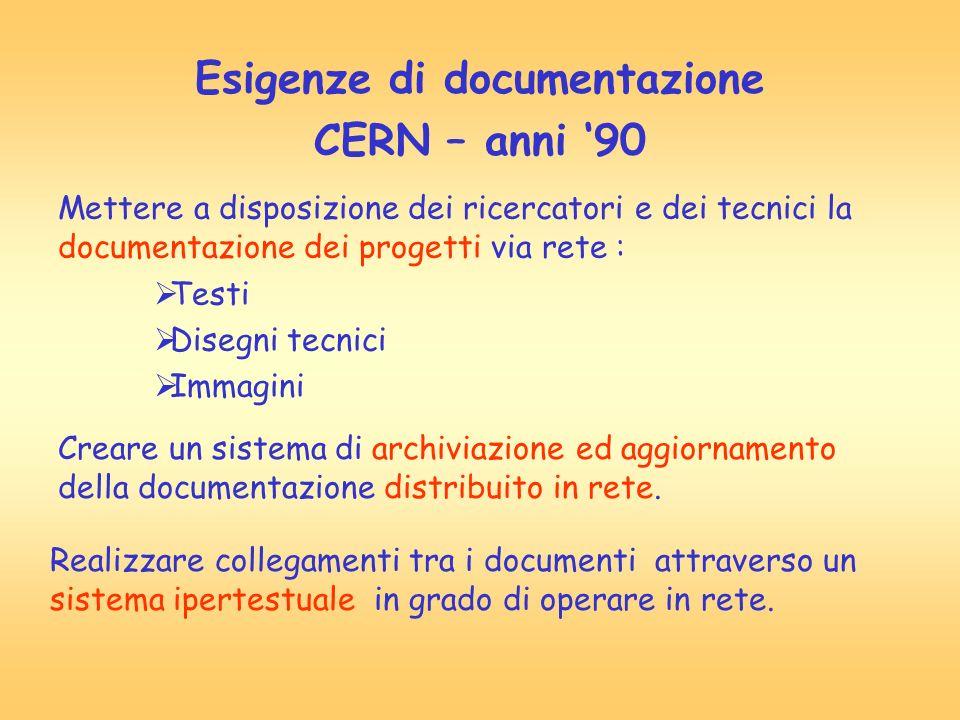Esigenze di documentazione