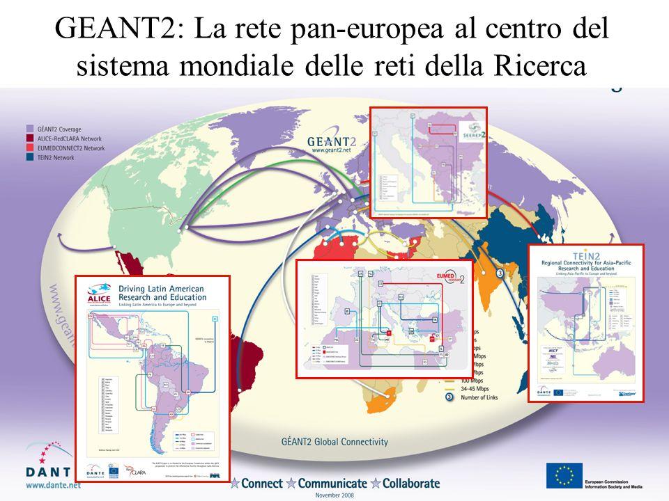 GEANT2: La rete pan-europea al centro del sistema mondiale delle reti della Ricerca