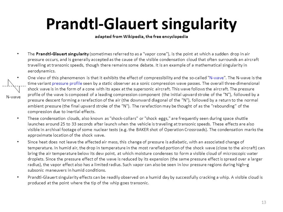 Prandtl-Glauert singularity adapted from Wikipedia, the free encyclopedia