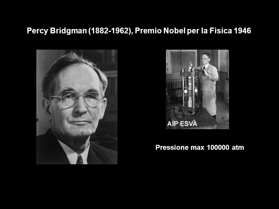 Percy Bridgman (1882-1962), Premio Nobel per la Fisica 1946