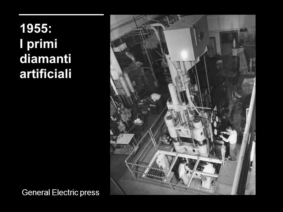 1955: I primi diamanti artificiali General Electric press