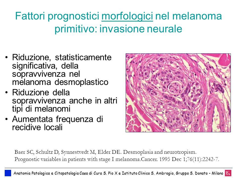 Fattori prognostici morfologici nel melanoma primitivo: invasione neurale