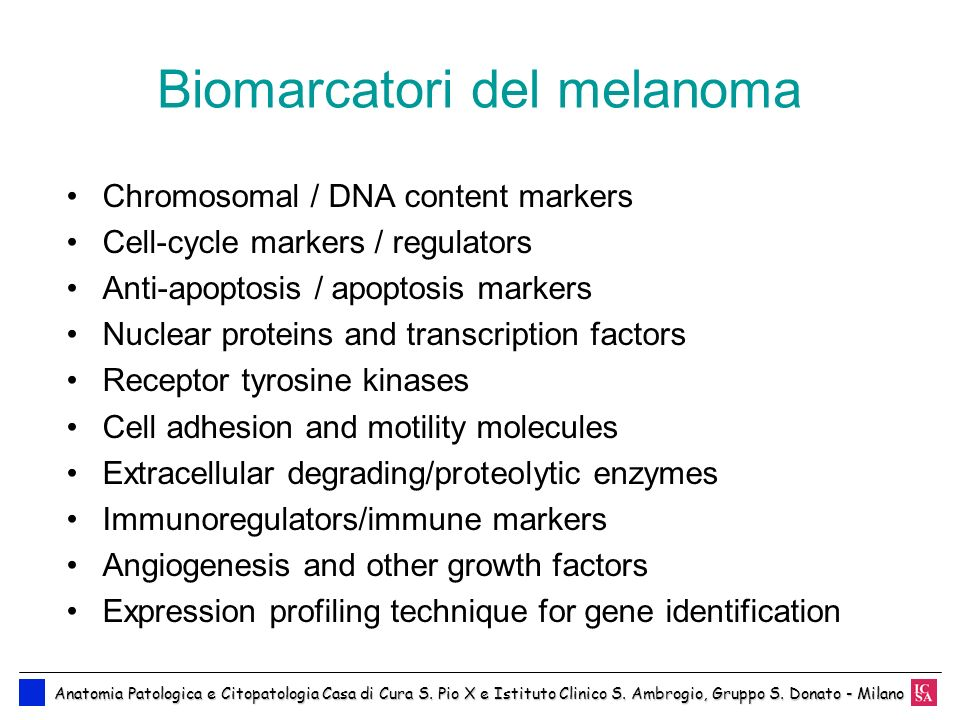 Biomarcatori del melanoma