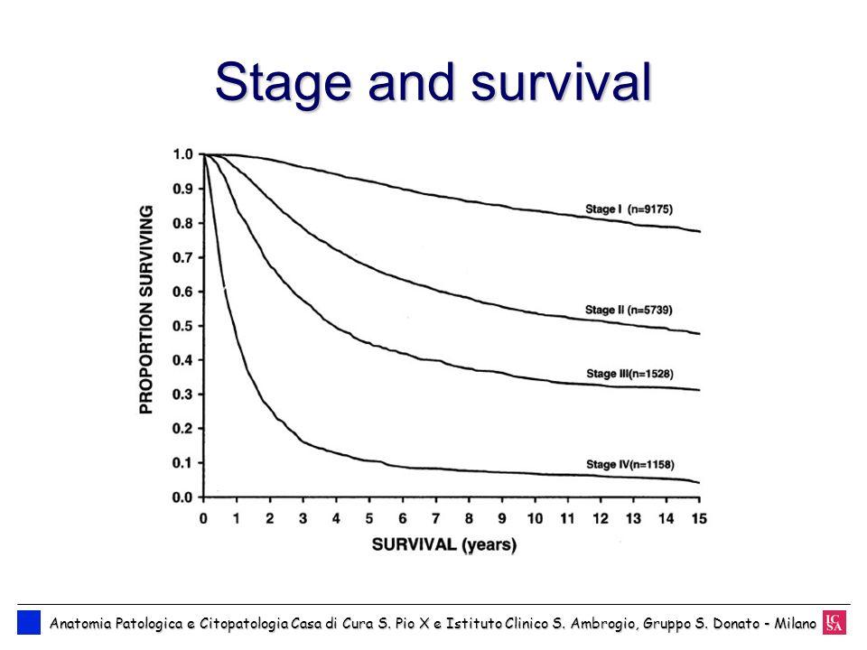 Stage and survival Anatomia Patologica e Citopatologia Casa di Cura S.