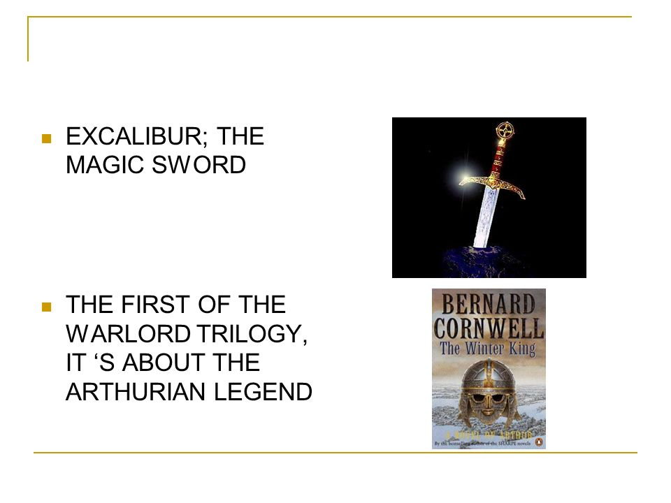 EXCALIBUR; THE MAGIC SWORD