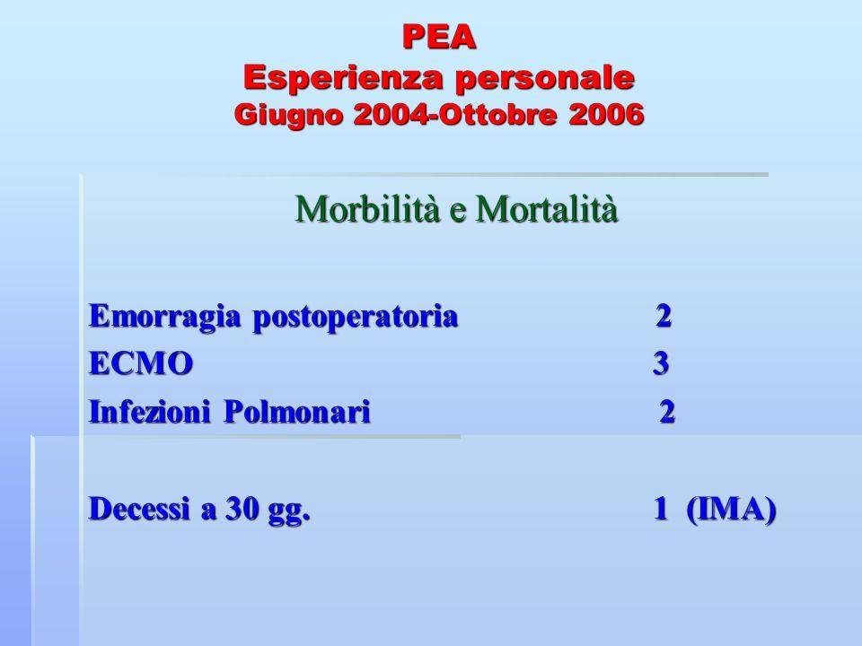 PEA Esperienza personale Giugno 2004-Ottobre 2006