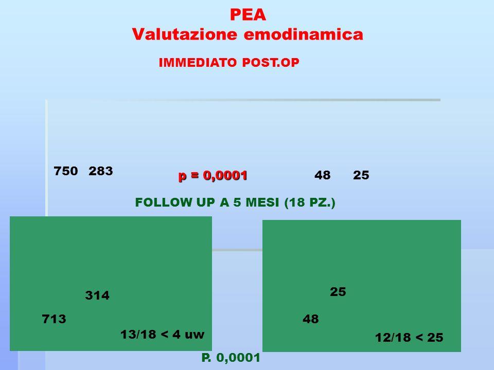 PEA Valutazione emodinamica