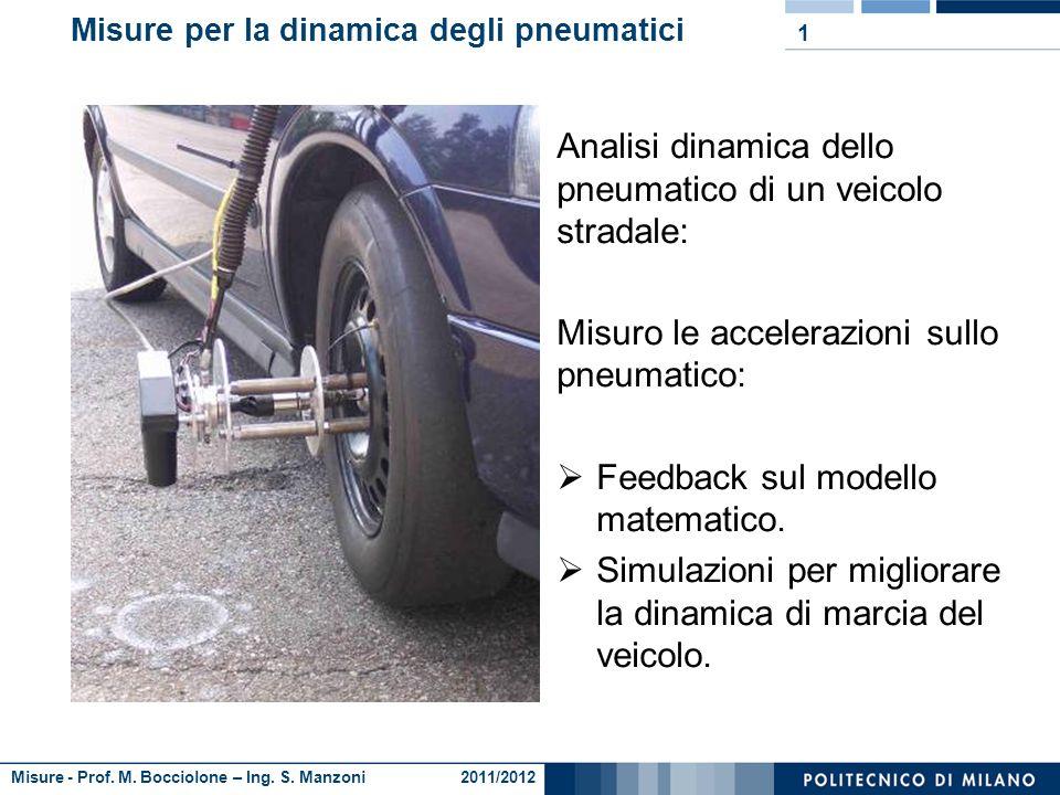 Misure per la dinamica degli pneumatici