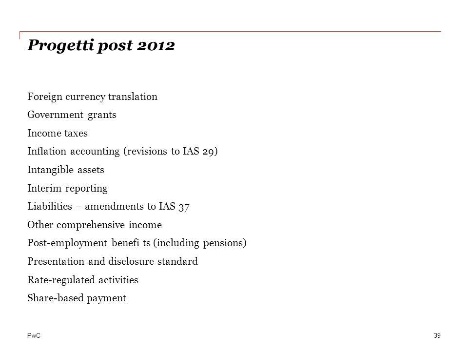 Progetti post 2012