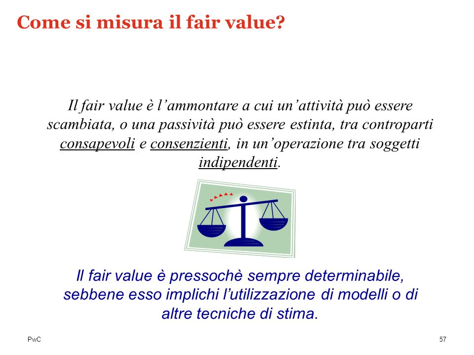 Come si misura il fair value