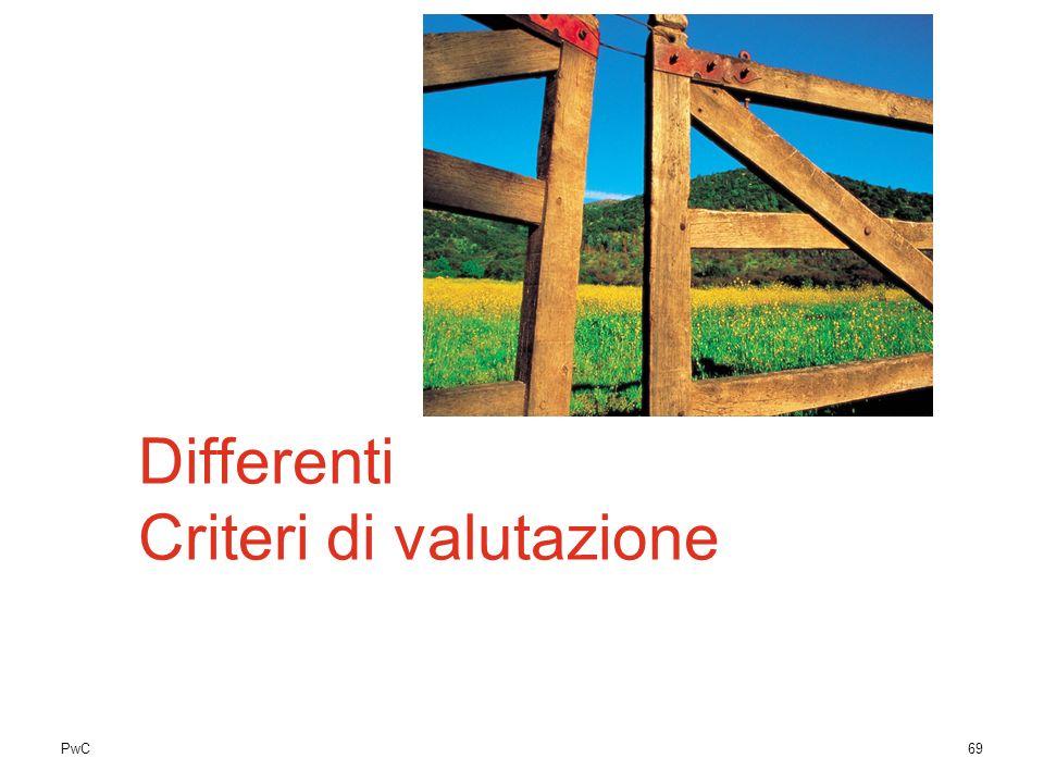 Differenti Criteri di valutazione