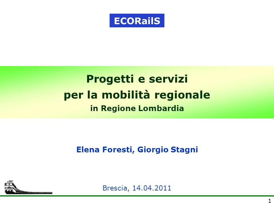 Progetti e servizi per la mobilità regionale in Regione Lombardia