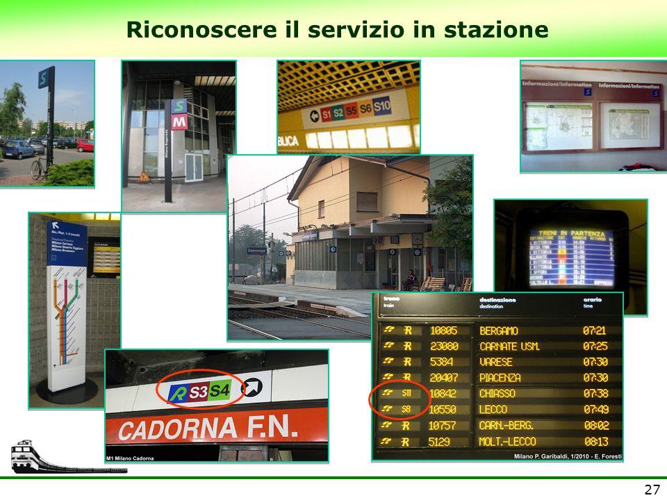 Riconoscere il servizio in stazione