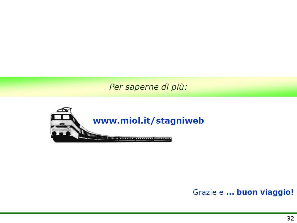 Per saperne di più: www.miol.it/stagniweb Grazie e ... buon viaggio!
