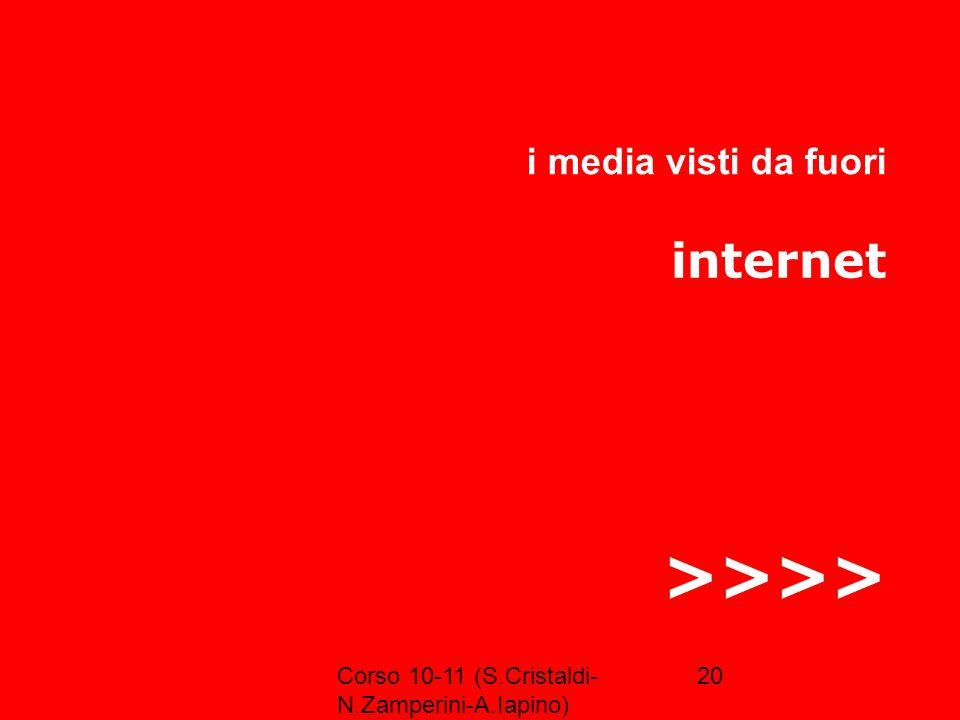 >>>> internet i media visti da fuori