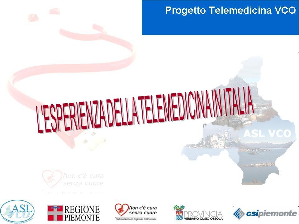 L ESPERIENZA DELLA TELEMEDICINA IN ITALIA