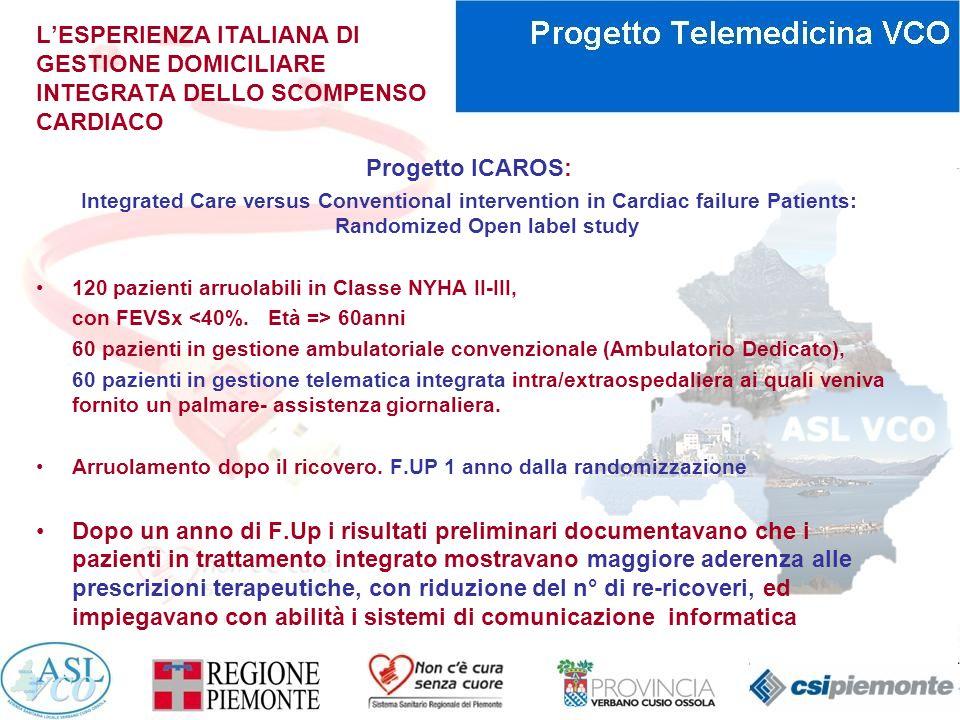 L'ESPERIENZA ITALIANA DI GESTIONE DOMICILIARE INTEGRATA DELLO SCOMPENSO CARDIACO