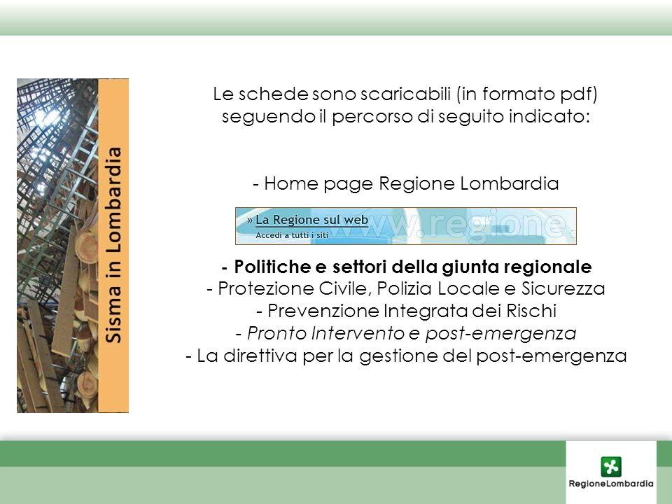 - Politiche e settori della giunta regionale