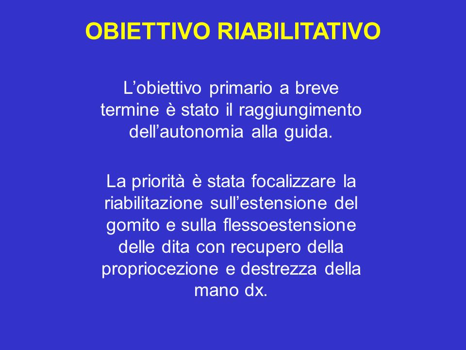 OBIETTIVO RIABILITATIVO