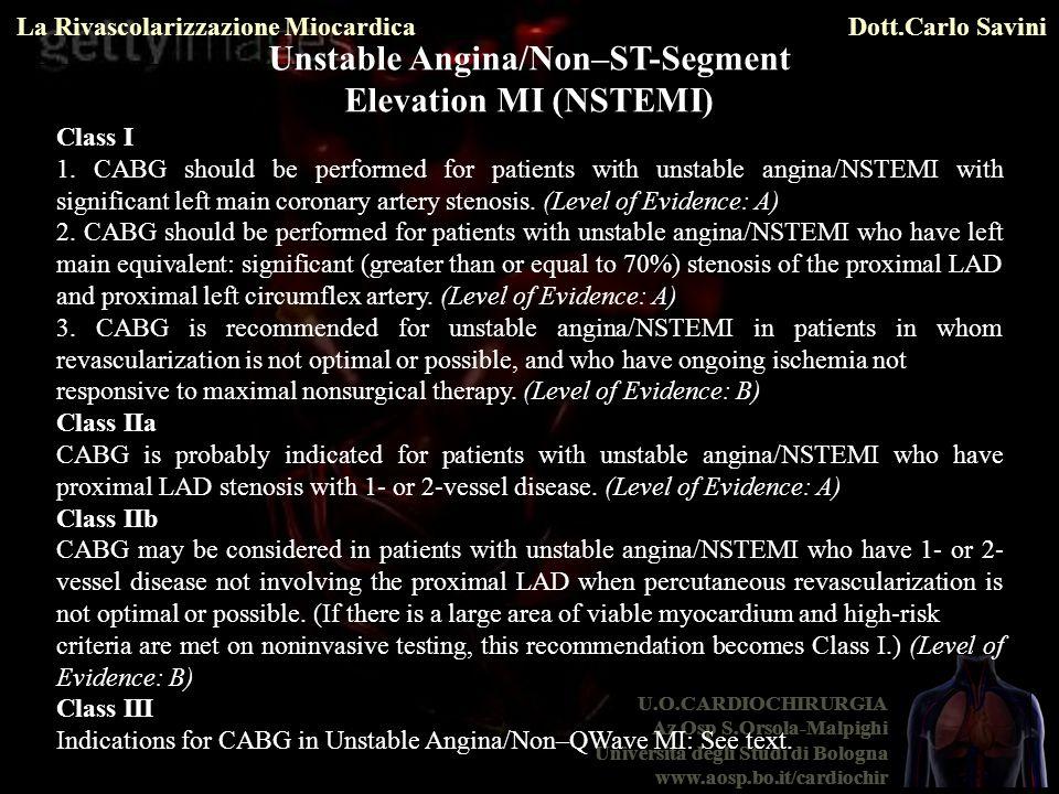 Unstable Angina/Non–ST-Segment