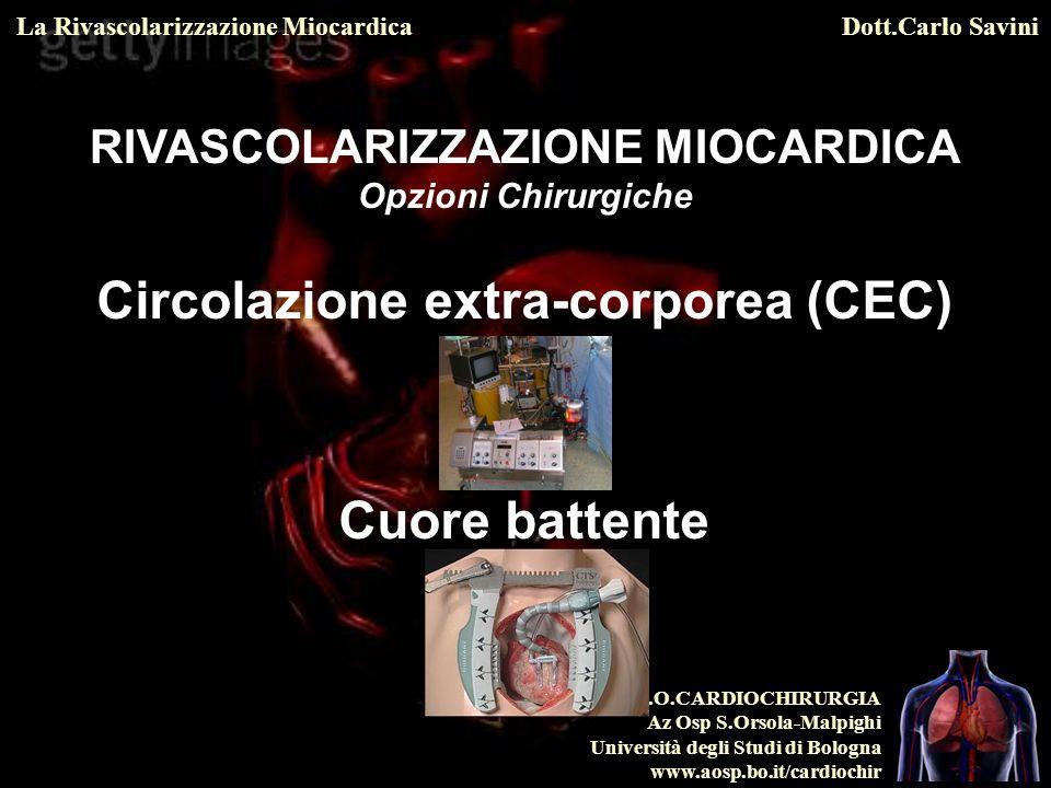 RIVASCOLARIZZAZIONE MIOCARDICA Circolazione extra-corporea (CEC)