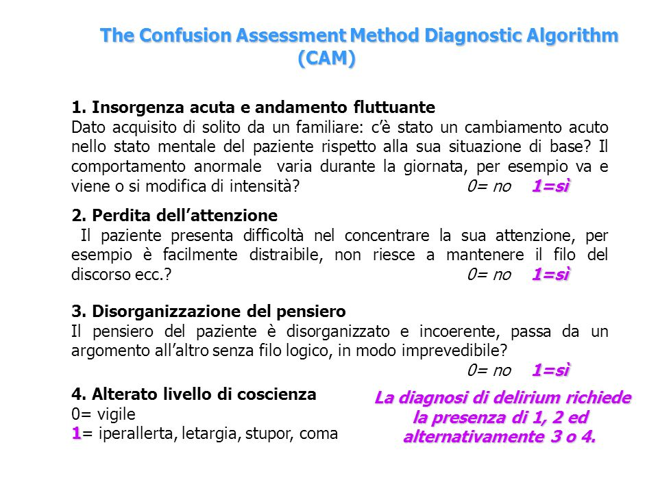 The Confusion Assessment Method Diagnostic Algorithm (CAM)