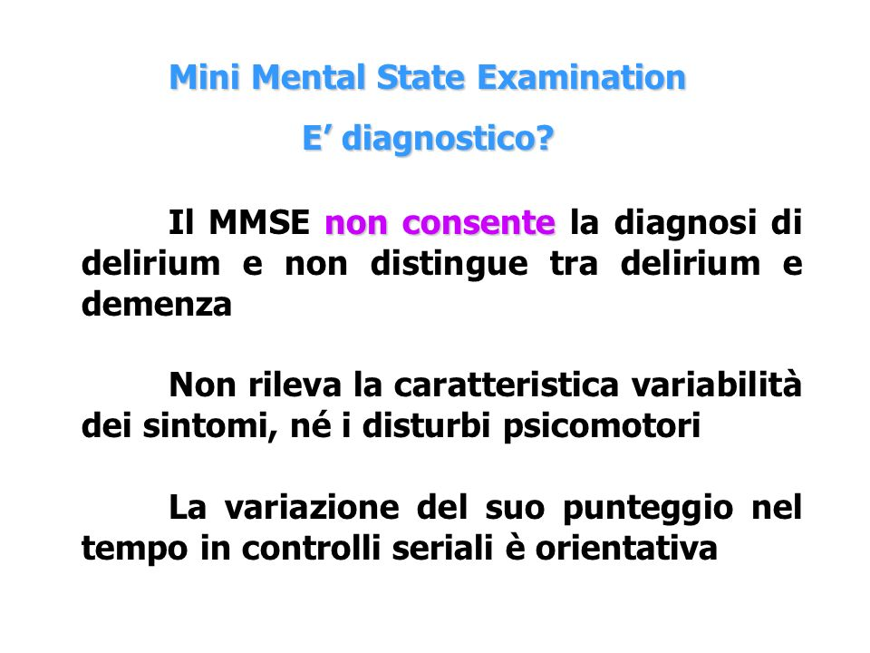Mini Mental State Examination