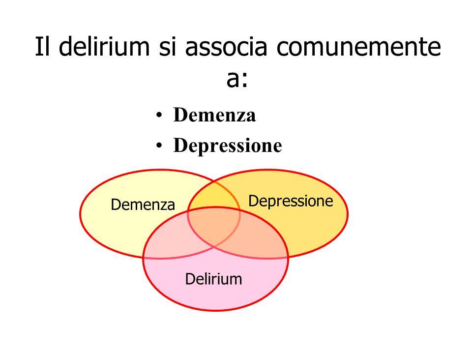 Il delirium si associa comunemente a: