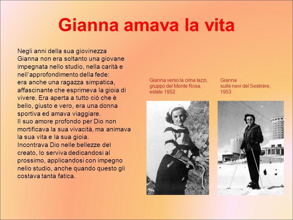 Gianna amava la vita