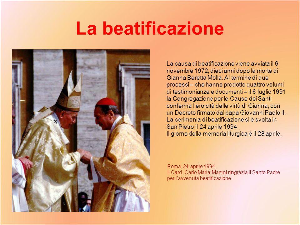 La beatificazione
